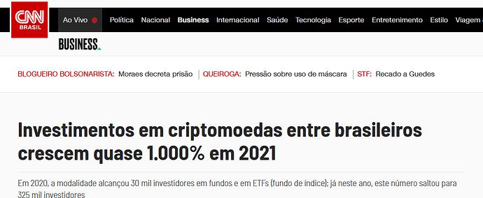CNN cresce inv criptomoedas