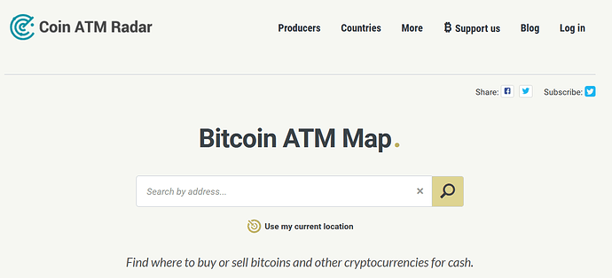 Coin ATM Radar site