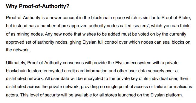 Proof of Authority Elysian